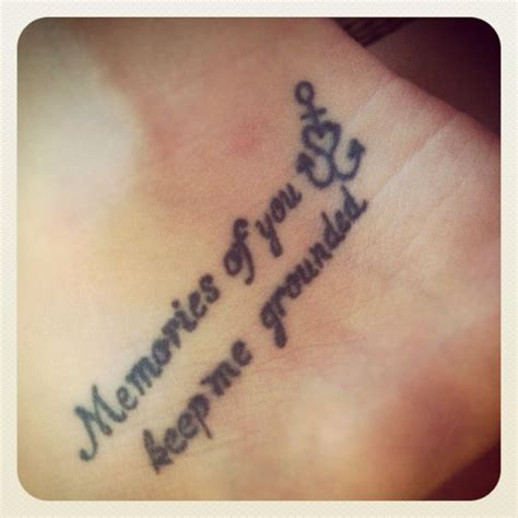 tattoo ideas in memory of someone my second anchor in memory of my nannie inside of