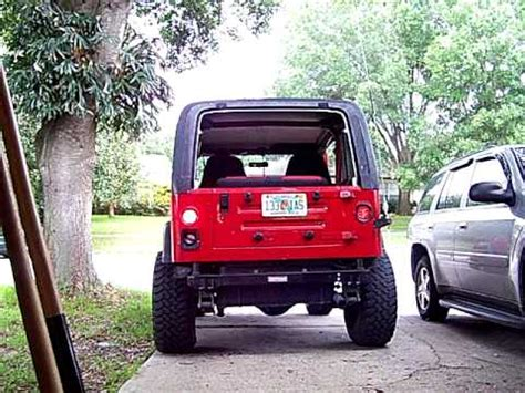 jeep wrangler circle lights 1995 jeep wrangler yj with new l e d tailights
