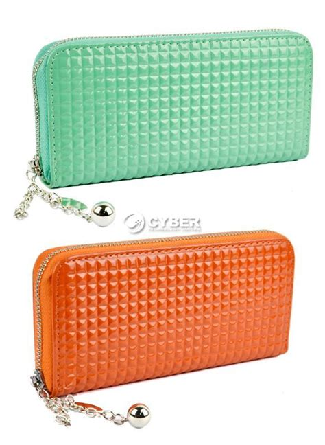 Womens Wallet Go Digital by Fashion Zip Pu Leather Colorful Clutch