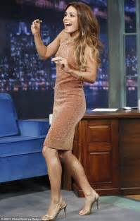 Light Brown Rug Vanessa Hudgens Positively Glitters In A Figure Hugging Dress As She Dances On Late Night With