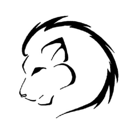 simple lion tattoo design cute lion tattoo