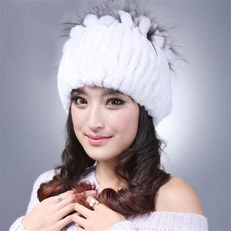 Handmade Fur Hats - sale beanie winter handmade stripes rex rabbit