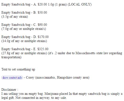 Craigslist Western Mass Farm And Garden by Craigslist Ads Sell Sandwich Bags For Up To 325 With