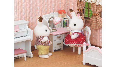 sylvanian childrens bedroom set sylvanian families girl s bedroom set kids george at