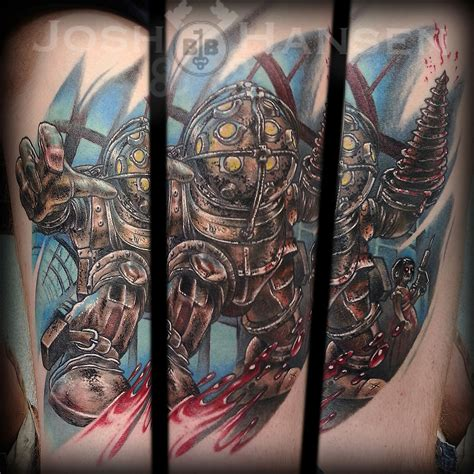big daddy tattoos joshartist bioshock bigdaddy littlesister