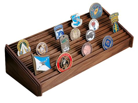 Coin Rack by Coin Display Rack Walnut Large