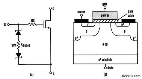 zener diode esd protection circuit electrostatic protector power supply circuit circuit diagram seekic