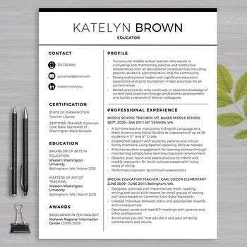 teacher resume template for ms word educator resume