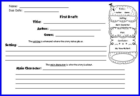 Book Report Sheet For 1st Grade by Cheeseburger Book Report Projects Templates Printable Worksheets And Grading Rubric