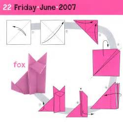 Steps To Make Origami Animals - simple origami fox japanese children s day celebration