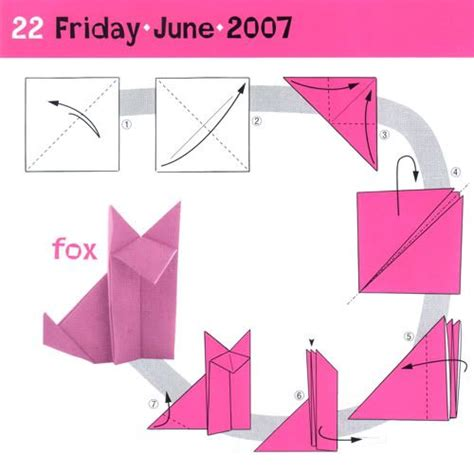 Origami Fox Diagram - helmet base fox origami and kirigami grey