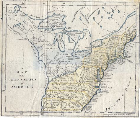 historical maps of united states of america pennsylvania in geography books 1790 1850