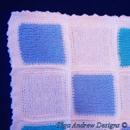 Patchwork Baby Blanket Knitting Pattern - patchwork baby blanket knit crochet pattern 042