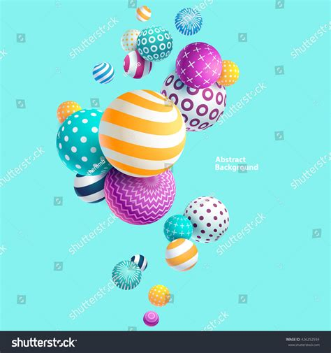 rainbow decorative balls multicolored decorative balls abstract vector illustration
