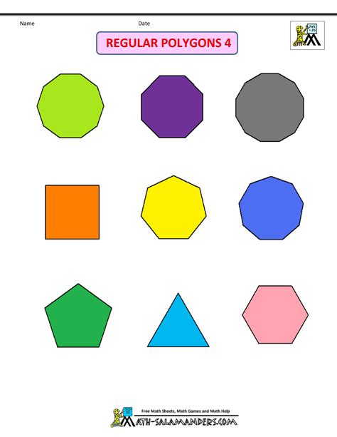 printable regular and irregular shapes printable shapes 2d and 3d