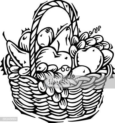 fruit basket high res vector graphic getty images