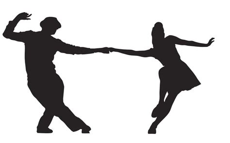 swing dance clip art silhouette