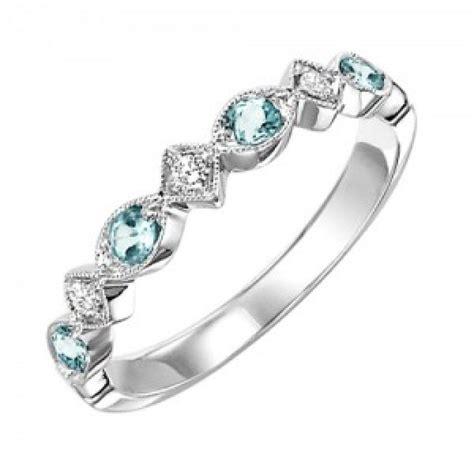 Birthstone Rings by 10k White Gold And Aquamarine Birthstone Ring