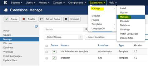 joomla template uninstall playing with template in joomla 3 x my geeks