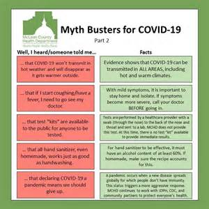 covid  myth busters mclean county health il