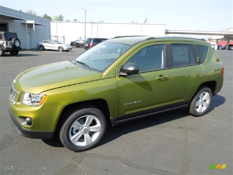 2012 rescue green metallic jeep compass sport 4x4 62596522 gtcarlot car color galleries