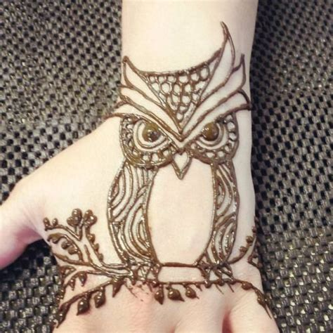 henna tattoo animals henna owl search henna