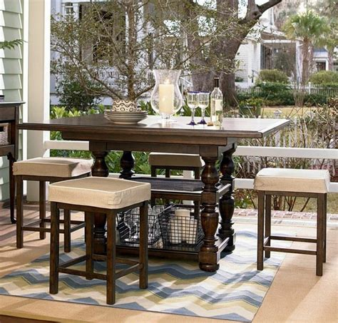 paula deen dining room sets paula deen home counter height pedestal table dining room set in molas