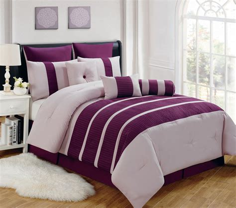 9 piece barri plum comforter set