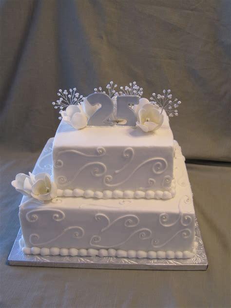 25th wedding anniversary ideas 2 25th wedding anniversary cake a 2 tier anniversary cake