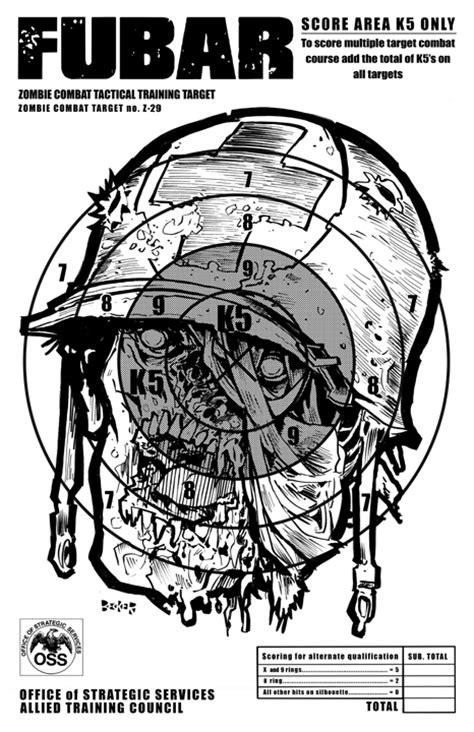 printable headshot targets us zombie casualty targets steve becker killustrator