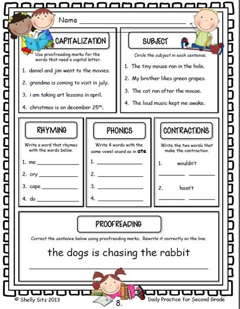 Second Grade Language Arts Worksheets by 17 Best Images About 2nd Grade On Common And