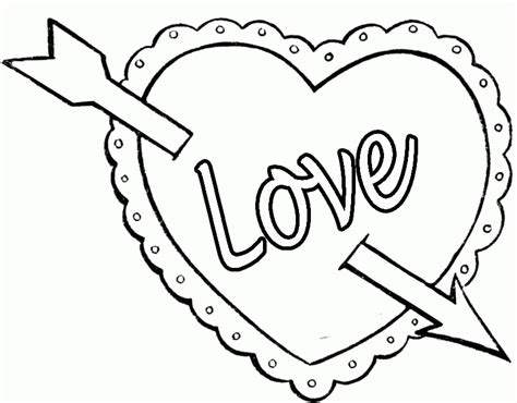 Coloring Pages Of Valentines Day Hearts
