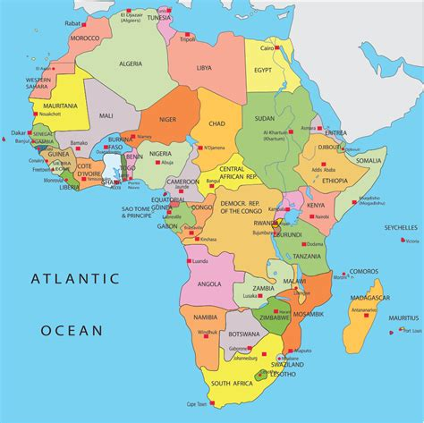 africa map just countries best photos of africa map countries and capitals africa