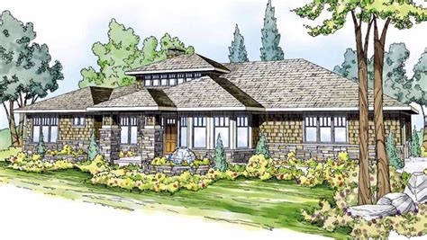 Craftsman Prairie Style House Plans Contemporary Craftsman Prairie Style Southwest House Plan 59410
