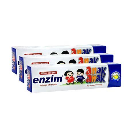 Pasta Gigi Enzim Orthodontic jual enzim anak bubblegum pasta gigi 50ml isi 3