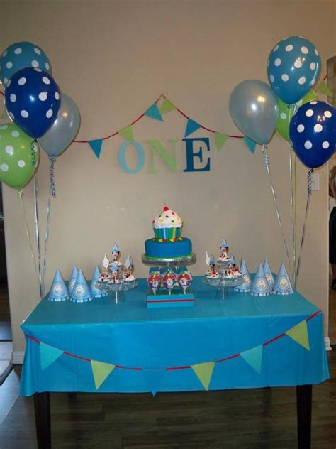 birthday party ideas simple 1st birthday decoration at home hostess with the mostess 174 boys cupcake first birthday