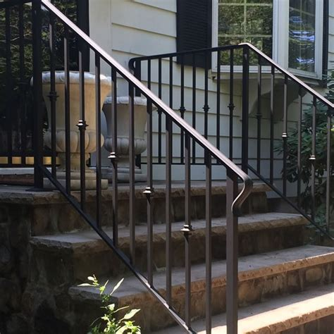 Exterior Banister by Exterior Wrought Iron Railings Outdoor Wrought Iron Stair Railings