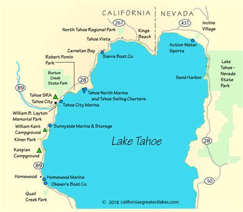lake tahoe map lake tahoe boating map