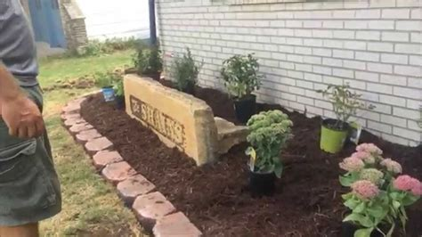 family landscaping project redo flower bed youtube
