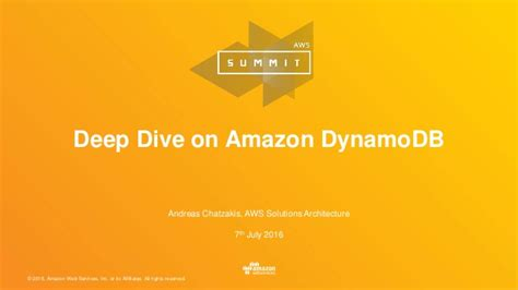 amazon dynamodb deep dive on amazon dynamodb