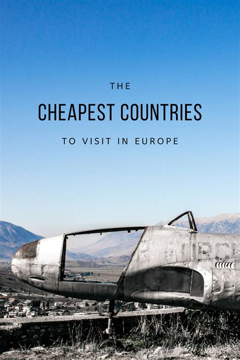the cheapest countries to visit in europe