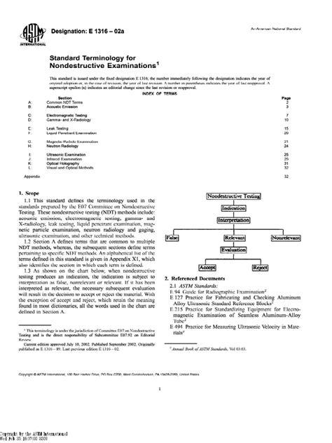 ASTM E1316-02a Standard Terminology for Nondestructive