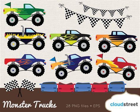 monster truck car racing buy 2 get 1 free monster truck clipart monster truck
