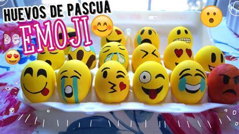 huevos decorados de emojis decora huevos de pascua de emoji emoji easter eggs diy