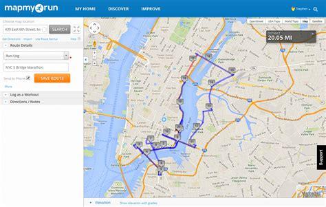 map myrun nyc marathon 20 mile run run2live