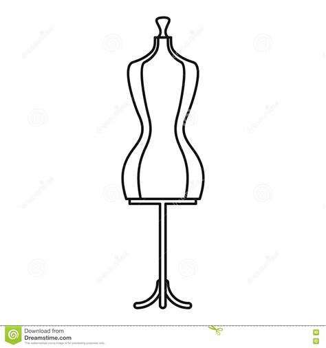 Mannequin Outline by Mannequin Icon Outline Style Stock Vector Image 81060341