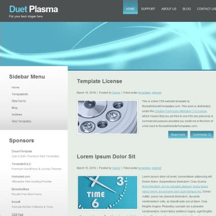 Duet Plasma Template Free Website Templates In Css Html Js Format For Free Download 185 26kb Plasma Pro Templates