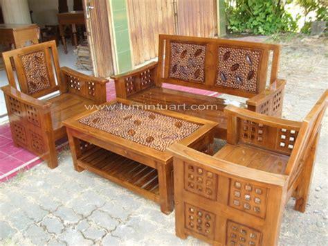 Kursi Tamu Kayu Jati Ukir kursi tamu minimalis kotak daun kayu jati ukiran jepara