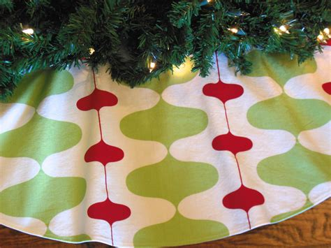 mid century modern christmas tree skirt retro mod tree skirt