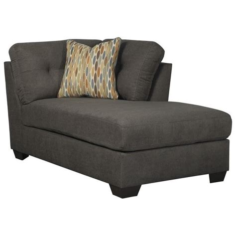 corner chaise lounge chair ashley furniture delta city right corner chaise lounge in